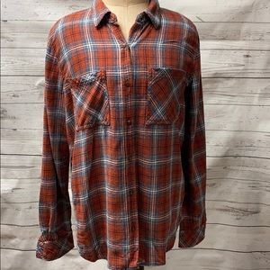 Universal Thread Long Sleeve Plaid Shirt Medium
